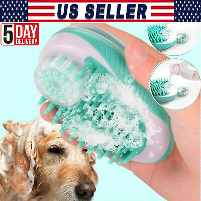 Pet Bath Brush Shampoo Washing Massage Shower Hair Removal Comb Cleaning Tool