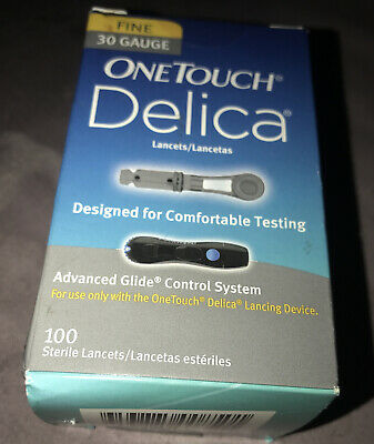 OneTouch Delica Lancets 100 Fine 30G - 100ct fast shipping Exp 05/23