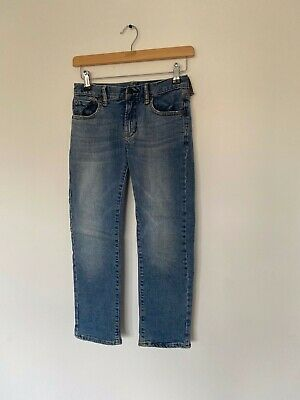Boys Jersey Lined Blue Straight Jeans from GAP Kids 8 Regular 132 -137 cm