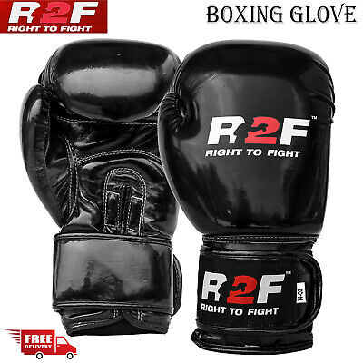 Professional Boxing Gloves Sparring Glove Punch Bag Training MMA Mitts R2F