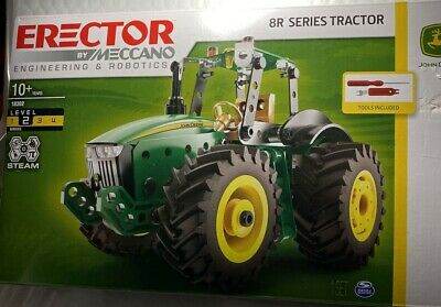 MISB Ages 10+ NEW John Deere Erector Set by Meccano LP69984 8R Series Tractor