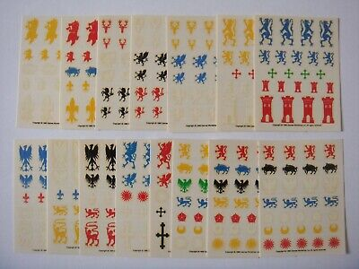 Warhammer Shields Decals Empire Bretonnian ECW transfers Complete Set AAA