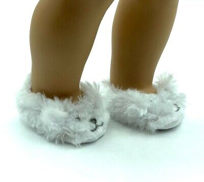 18 in Girl Boy Logan Doll Clothes Shoes White Unicorn Slippers fit American Girl