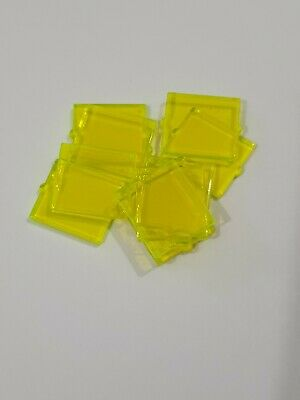 NEW #60601-TRANS GREEN-GLASS FOR WINDOW-1 X 2 X 2 FLAT FRONT LEGO 20 PIECES