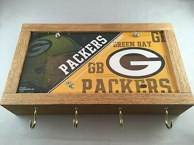 Details about  /GUN CONCEALMENT FURNITURE BOX GREEN BAY GO PACKERS STATE LICENSE OAK OR DIY PLAN