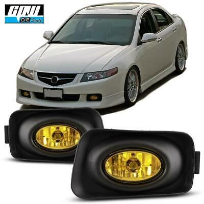 For Acura TSX 04-05 Factory Replacement Fit Fog Lights Wiring Kit Yellow Lens