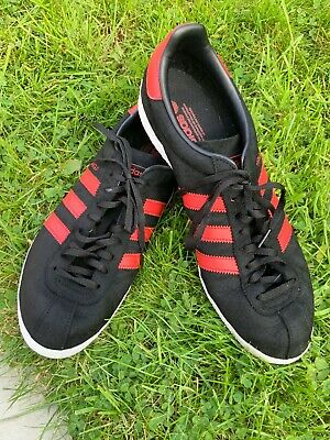 ADIDAS MEN'S TOPANGA Black Red Suede Leather Trainers Uk 13.5 Vgc ...