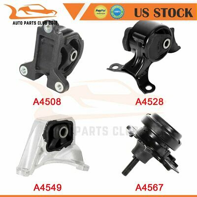 4PC Motor /& Transmission Mount Kit Fits 2002-2006 Acura RSX 2.0L with Auto Trans