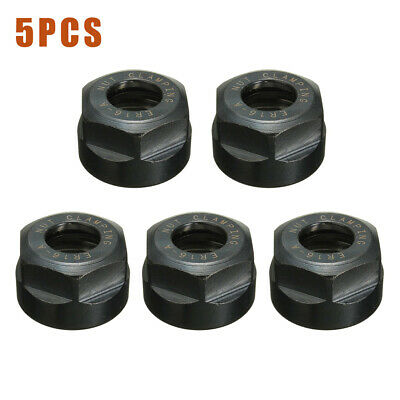 5pcs ER16 A type Collet Clamping Nut For CNC Milling Chuck Holder Lathe Tool C#