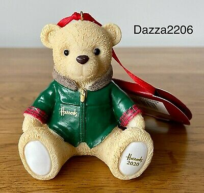 HARRODS 2020 NICOLAS FOOTDATED CHRISTMAS RESIN TEDDY BEAR COLLECTORS ITEM