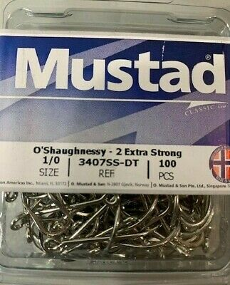 MUSTAD 3407SS-DT-7//0 CLASSIC O/'SHAUGHNESSY-2X STRONG-CHOOSE PACK SIZE 25,50,100