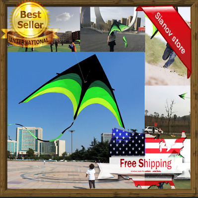 Extremely Easy to Fly Kite with 3 Ribbons and 300f Delta Kite for Kids /& Adults