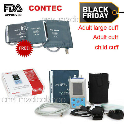 CONTEC US Ambulatory Blood Pressure Monitor+Software 24h NIBP Holter ABPM50