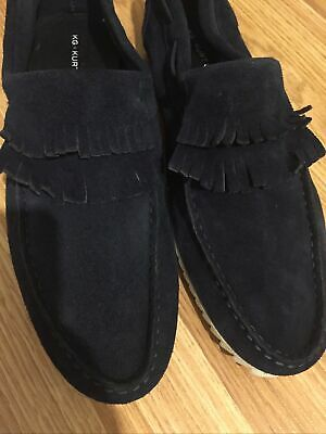 Mens Kurt Geiger Slippers Hugo Moccasin Grey KG Small  7//8 = 41//42 New in Box