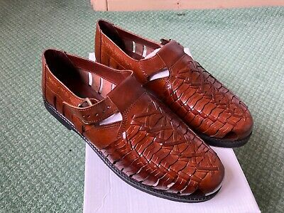 Smart Uns Mens Gordini Leather Touch Fastening Toe Sandal Shoes DF137