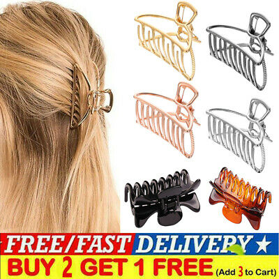 Hair Clips Women/'s Strong Large Traditional Clip Claw Jaw Clamp Grip Thick ! UK