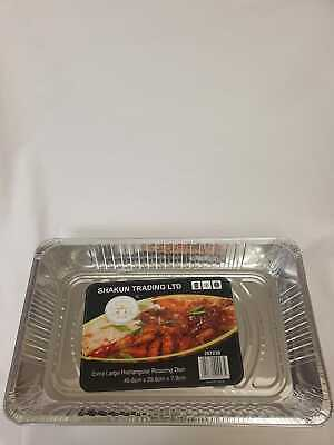 x3 Commercial Aluminium Baking Trays 41.5 x 27.5x1cm Heavy Catering Cookie Tins