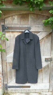Austin Reed Mens Charcoal Grey Wool Overcoat 40r 30 00 Picclick Uk