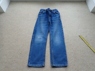 Boy's NEXT Blue Designer Adjustable elasticated waist jeans Size 6 Yrs  NCC