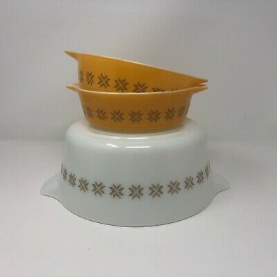 472 Set of 3 473,rare pyrex Covered Town and Country small PYREX Vintage Casserole dish Cinderella Lid 1970s,Vintage Pyrex,471