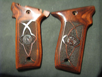 Taurus PT940 PT911  Rosewood Auto Pistol Grips Fancy Checkered NEW STYLE-STYLE#2