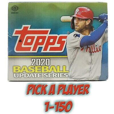 2020 Topps Baseball UPDATE SERIES Base Cards Rookies CARD *PICK A PLAYER* #1-150