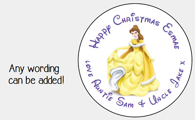 PERSONALISED STICKERS LABELS TAGS CIRCLE CHRISTMAS PRESENT GIFT 1ST DUMBO DISNEY