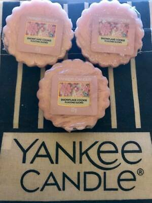 BRAND NEW AUTHENTIC 12x Snowflake Cookie Yankee Candle 22g Wax Melt Tarts!