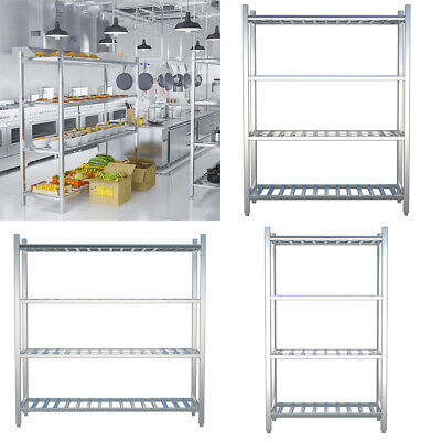 4/5 Tier Commercial Kitchen Stainless Steel Shelf Stand Storage Shelving Unit