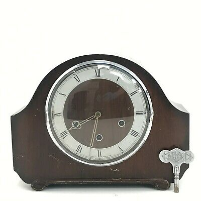 Smiths Wooden Mantel Clock Vintage Chiming Classic Vintage Spares Parts 341332