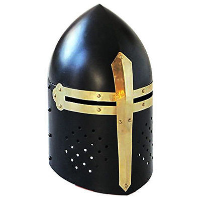 Ancient Armour Helmet Medieval Black Knight Collectible SugarLoaf Helmet w liner