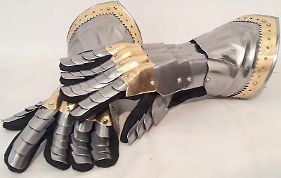 Medieval Knight Gauntlets Functional Armor Gloves Adult Medieval SCA Halloween