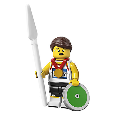 SHIPS FAST. LEGO IN HAND 71027 Minifigure Series 20 Female Athlete//Discus