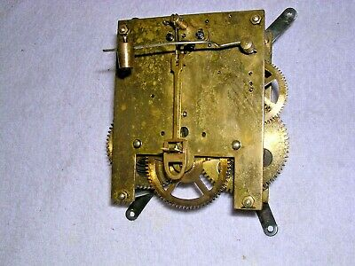Clock  Parts,  Brass  Movement , Good  Working  Order