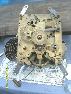 Old  Alarm  & Striking Strange  Movement No  Name Spares To Repair  Good  One