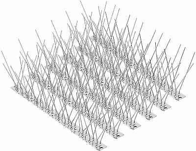 Pigeons,14 Pack15FT Spikes Anti Climb Security Wall Stainless  Bird Deterrent