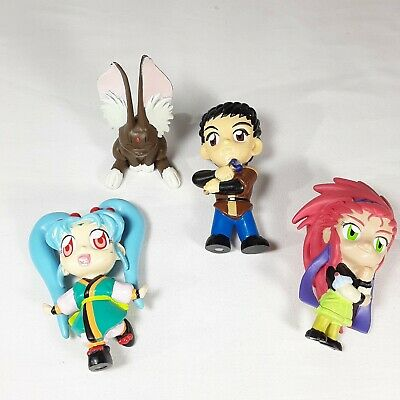 """Tenchi Muyo 3"""" Figures Vintage 4 piece PCV Characters Toys Collectible 2000"""