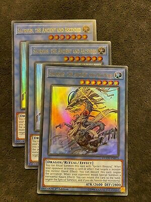 The Ancient And Ascended DUOV-EN075 1st Edition 3x Ultra Rare Sauravis
