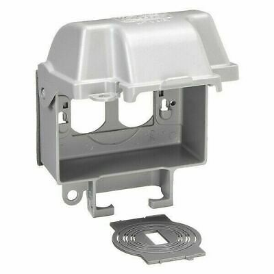 WEATHERPROOF COVER Quick-Fit Gray Outdoor Electrical Box Duplex Outlet Protector