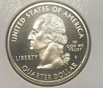 """A 2000 S Virginia 90/% SILVER Deep Cameo /""""PROOF/"""" State Quarter US Mint Coin"""