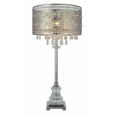 New Hq Antique Chandelier Style Silver, Chandelier Table Lamp Shades Uk