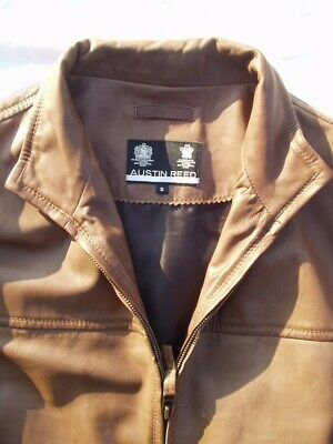 Austin Reed Expensive Brown Leather Jacket Very Soft Small Medium Excellent 29 00 Picclick Uk