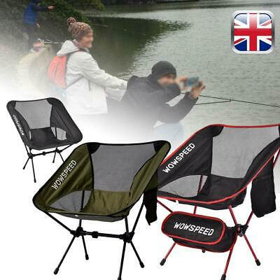 2x Camping Chairs Lightweight Fishing Beach Garden Party BBQ Portable Campervan
