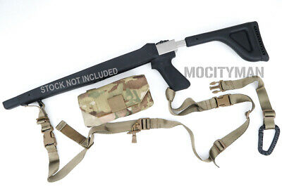 Initial Attack Weapons Rifle Sling Kit Coyote w/ Buttstock Pouch Multicam USA