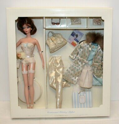 2001 Barbie Silkstone LE Continental Holiday Giftset NRFB Mattel #55497