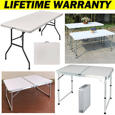 Catering Camping Heavy Duty Folding Trestle Table Picnic BBQ Party Tables Hiking