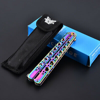 Butterfly Rainbow Knife Stainless steel Toy  Practice Sports Training Toy