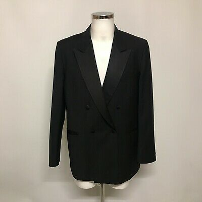 Oscar Jacobson For Austin Reed Double Breasted Black Tuxedo 46 Chest 382118 6 78 Picclick