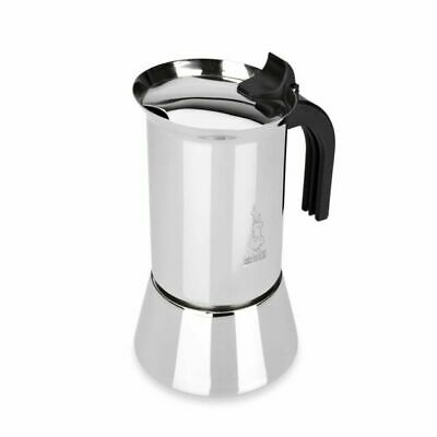 Black Bialetti Musa Espresso Coffee Maker Stainless Steel Non-Induction 2 Cup