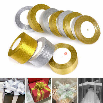 Cut Lenght Organza Woven Edge Sparkly Lame Ribbon Glitter 5 //10 //12 //25 38mm